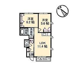 シャーメゾン七宝台[1階]の間取り