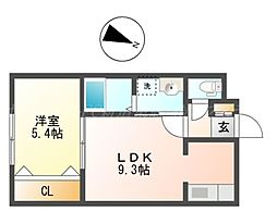 KAMUY SAKAEMACHI[2階]の間取り