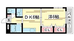 兵庫県神戸市北区鈴蘭台北町1丁目の賃貸マンションの間取り