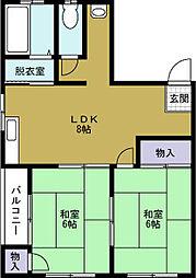 第二昭和マンション[3階]の間取り