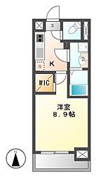 メイプルコート朝岡[5階]の間取り