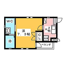 シェソワ堀田[1階]の間取り