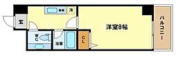 HF阿波座レジデンス[3階]の間取り