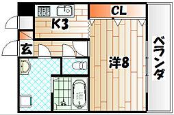 パークコート三萩野[2階]の間取り