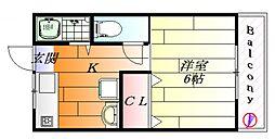 ポルベーラ シュン[2階]の間取り