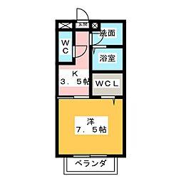 サニーコートYN[1階]の間取り
