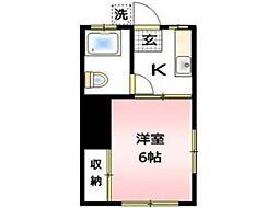 アパートマスヤ[1階]の間取り