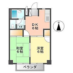 愛知県名古屋市西区比良3丁目の賃貸アパートの間取り