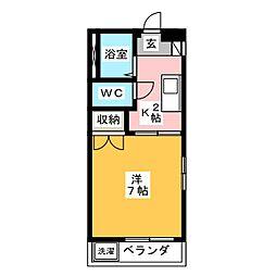 ホワイトセブン 東棟[2階]の間取り