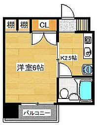 福岡県太宰府市五条4丁目の賃貸マンションの間取り