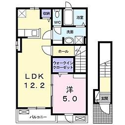 カーサミルト[2階]の間取り