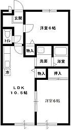 COZY・HOUSE・SOGA[102号室号室]の間取り