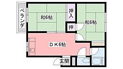 池田マンション[403号室]の間取り