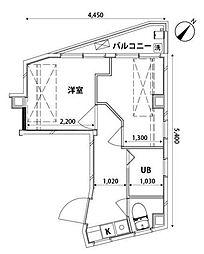 東京メトロ有楽町線 東池袋駅 徒歩8分の賃貸マンション 2階2Kの間取り