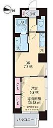 東京メトロ東西線 木場駅 徒歩11分の賃貸マンション 5階1DKの間取り