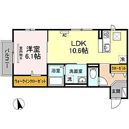 (仮)D-roomWIT米原8丁目[102号室]の間取り
