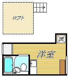 東京都江戸川区平井3丁目の賃貸アパートの間取り