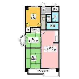 大法ビル[8階]の間取り