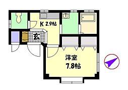 広島県広島市南区翠2丁目の賃貸アパートの間取り