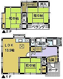 [一戸建] 埼玉県川越市的場2丁目 の賃貸【/】の間取り