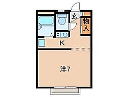 レオパレス田尻I[2階]の間取り