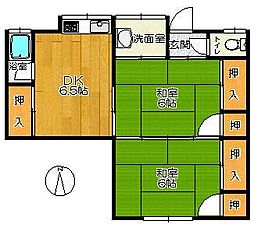 諸永アパート[1号室]の間取り
