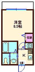 YOKOHAMA DEPARTURE LEGEND[202号室]の間取り