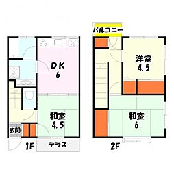 [タウンハウス] 東京都足立区西保木間3丁目 の賃貸【東京都 / 足立区】の間取り