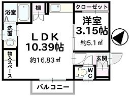 KDT-BOX1[203号室]の間取り