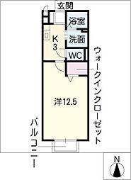 モナリエ北一色(西)[2階]の間取り