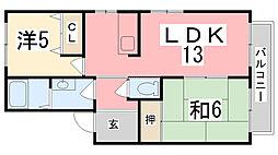 マインドハイツ辻井[B202号室]の間取り