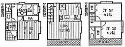 [一戸建] 東京都大田区南久が原2丁目 の賃貸【/】の間取り