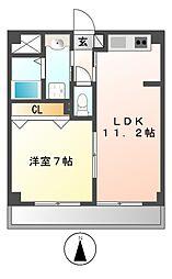 レモナ千成[2階]の間取り
