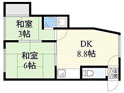 第3池田ハイツ[206号室]の間取り