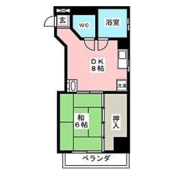 コーポグリーンハウス[4階]の間取り