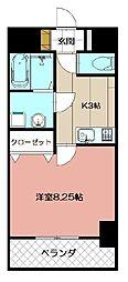 紺ニビル[703号室]の間取り