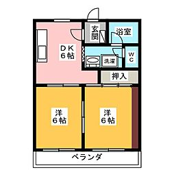 マンションリビエールIII[2階]の間取り
