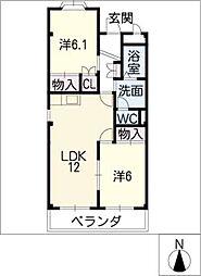 エクセルメゾンA[3階]の間取り
