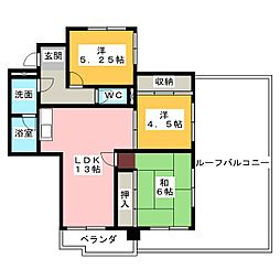 ヒルズトップ[3階]の間取り