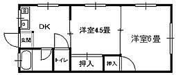 田村アパート _[201号室]の間取り