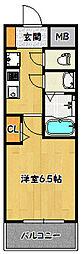 神戸市海岸線 ハーバーランド駅 徒歩4分の賃貸マンション 4階1Kの間取り