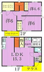 (仮称)松戸市小山貸家A棟[101号室]の間取り