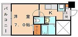 ラ・ガール福間[4階]の間取り