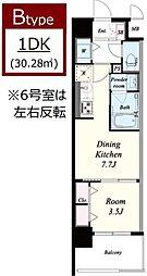 ラルシェパルク新大阪[5階]の間取り