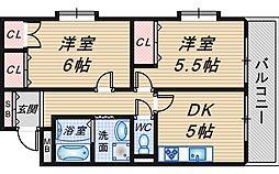サンライフ桜塚[3階]の間取り
