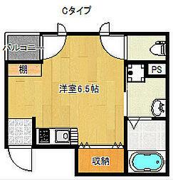 セレブコート安立[2階]の間取り