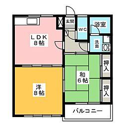 セゾンマツシマI[2階]の間取り