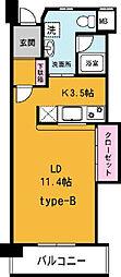パーマナント洞峰2[302号室]の間取り