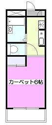 東京都小平市上水本町1丁目の賃貸アパートの間取り