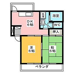ロキシーコート[2階]の間取り